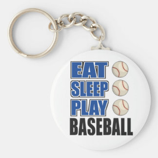 Eat, Sleep, Play Baseball Key Ring