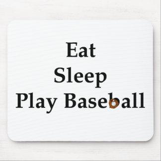 Eat, Sleep, Play Baseball Mousepad
