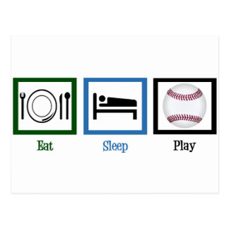 Eat Sleep Play Baseball Postcard