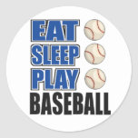Eat, Sleep, Play Baseball Stickers