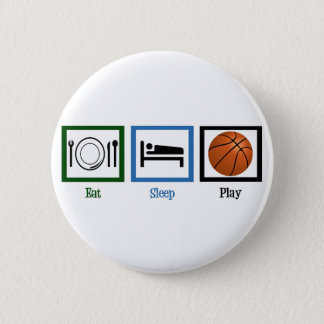Eat Sleep Play Basketball 6 Cm Round Badge