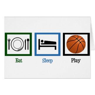 Eat Sleep Play Basketball Greeting Card