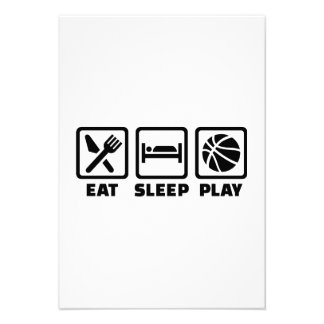 Eat Sleep play Basketball Invitation