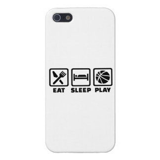 Eat Sleep play Basketball iPhone 5 Cases
