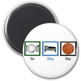 Eat Sleep Play Basketball 6 Cm Round Magnet