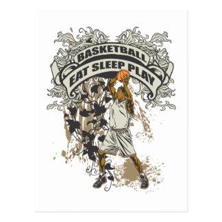 Eat Sleep Play Basketball Postcard