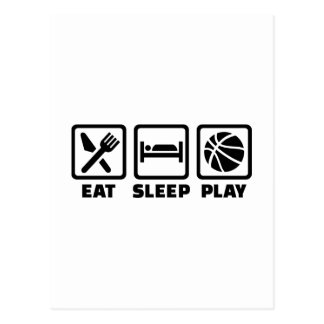 Eat Sleep play Basketball Post Card