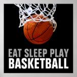 Eat Sleep Play Basketball Poster - Unique Prints