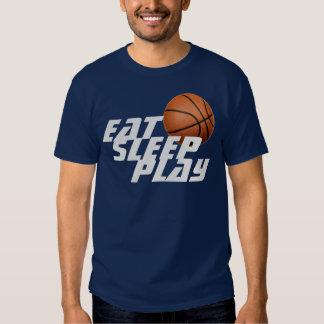 Eat Sleep Play Basketball T-Shirt - Navy Blue