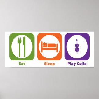 Eat Sleep Play Cello Poster