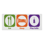 Eat Sleep Play Cello Posters