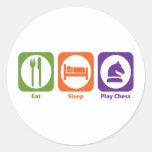 Eat Sleep Play Chess Stickers