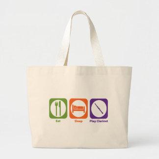 Eat Sleep Play Clarinet Large Tote Bag