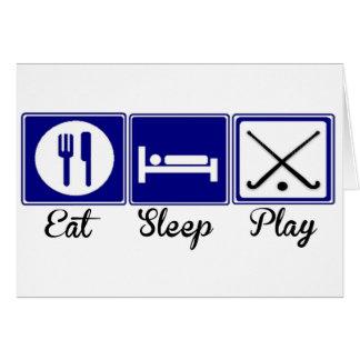 Eat, Sleep, Play - Field Hockey Greeting Card