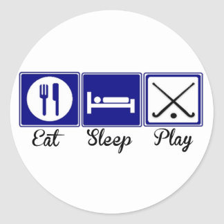 Eat, Sleep, Play - Field Hockey Classic Round Sticker