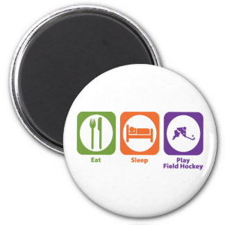 Eat Sleep Play Field Hockey Magnet