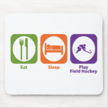 Eat Sleep Play Field Hockey Mouse Mats