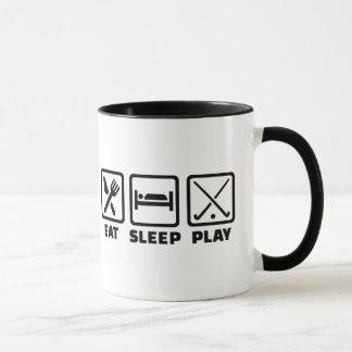 Eat sleep play field hockey mug