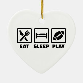 Eat Sleep play Football Christmas Ornament