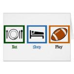 Eat Sleep Play Football Greeting Card