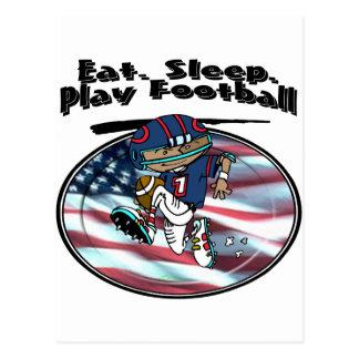 Eat Sleep Play Football Post Cards