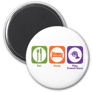 Eat Sleep Play French Horn 6 Cm Round Magnet