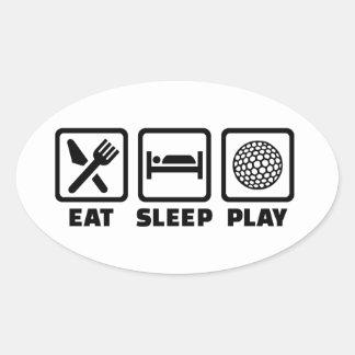 Eat Sleep Play Golf Sticker