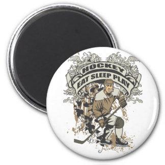 Eat, Sleep, Play Hockey 6 Cm Round Magnet