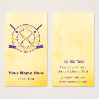 Eat Sleep Play Hockey Customizable Business Cards