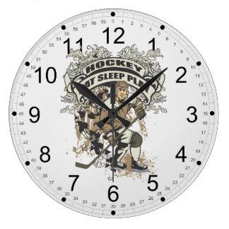 Eat, Sleep, Play Hockey Large Clock