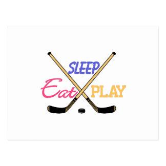 Eat Sleep Play Hockey Postcard