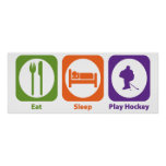 Eat Sleep Play Hockey Poster