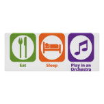 Eat Sleep Play in an Orchestra Poster