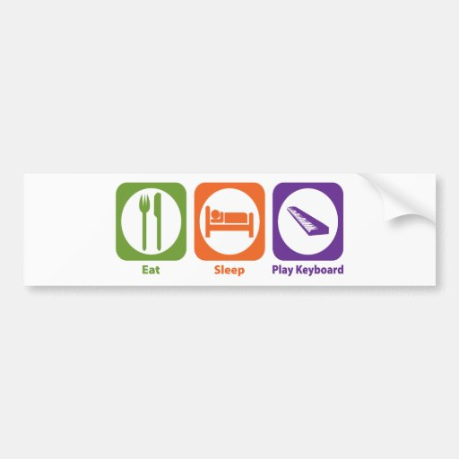 Eat Sleep Play Keyboard Bumper Sticker