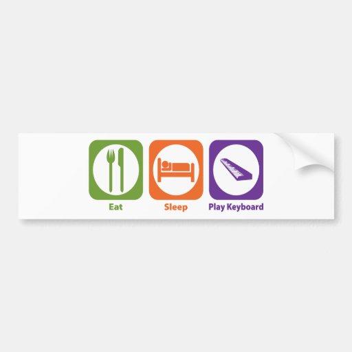 Eat Sleep Play Keyboard Car Bumper Sticker