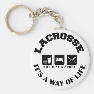 Eat Sleep Play Lacrosse Basic Round Button Key Ring