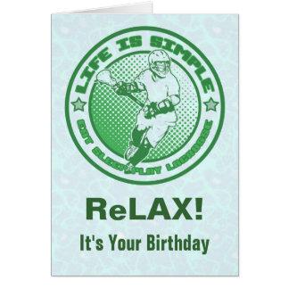 Eat, Sleep, Play Lacrosse Birthday Card