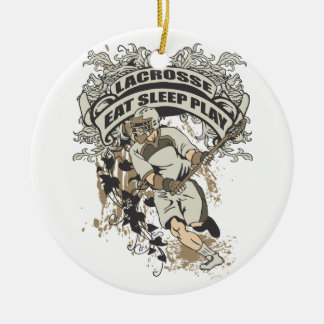 Eat, Sleep, Play Lacrosse Christmas Ornament