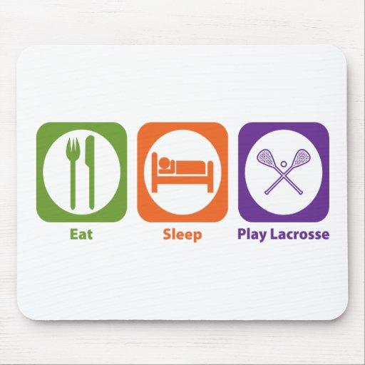Eat Sleep Play Lacrosse Mouse Pad