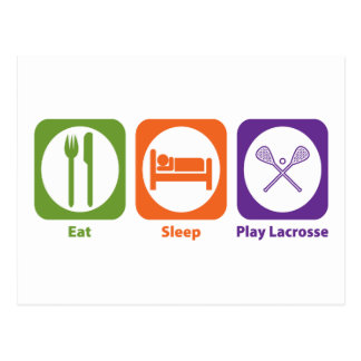 Eat Sleep Play Lacrosse Post Card