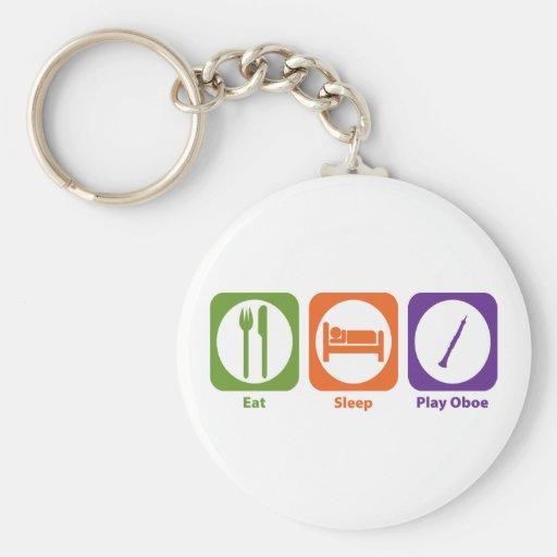 Eat Sleep Play Oboe Key Chain