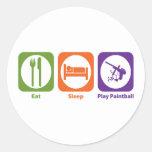Eat Sleep Play Paintball Stickers
