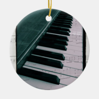 Eat Sleep Play (Piano) Christmas Ornament