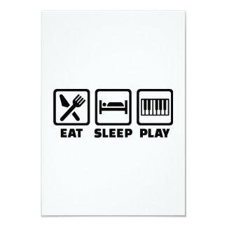 Eat Sleep Play Piano Personalized Invite