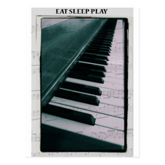 Eat Sleep Play (Piano) Postcard