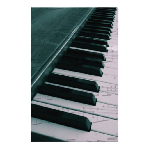Eat Sleep Play (Piano) Personalized Stationery