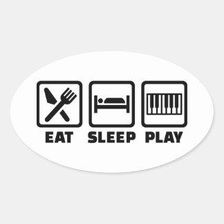 Eat Sleep Play Piano Stickers