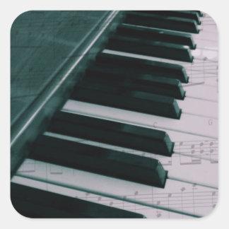 Eat Sleep Play (Piano) Square Sticker
