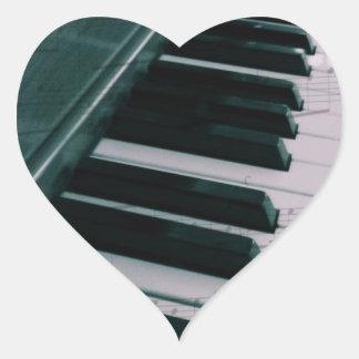 Eat Sleep Play (Piano) Heart Sticker
