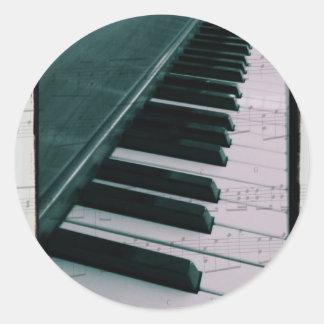 Eat Sleep Play (Piano) Round Sticker